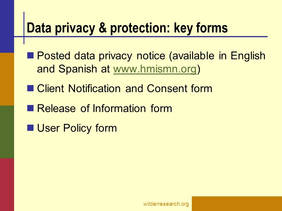 Data privacy & protection: key forms