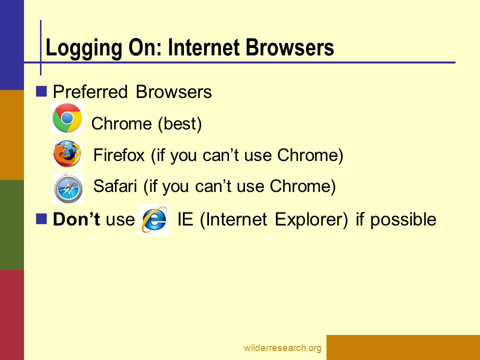 Logging On: Internet Browsers