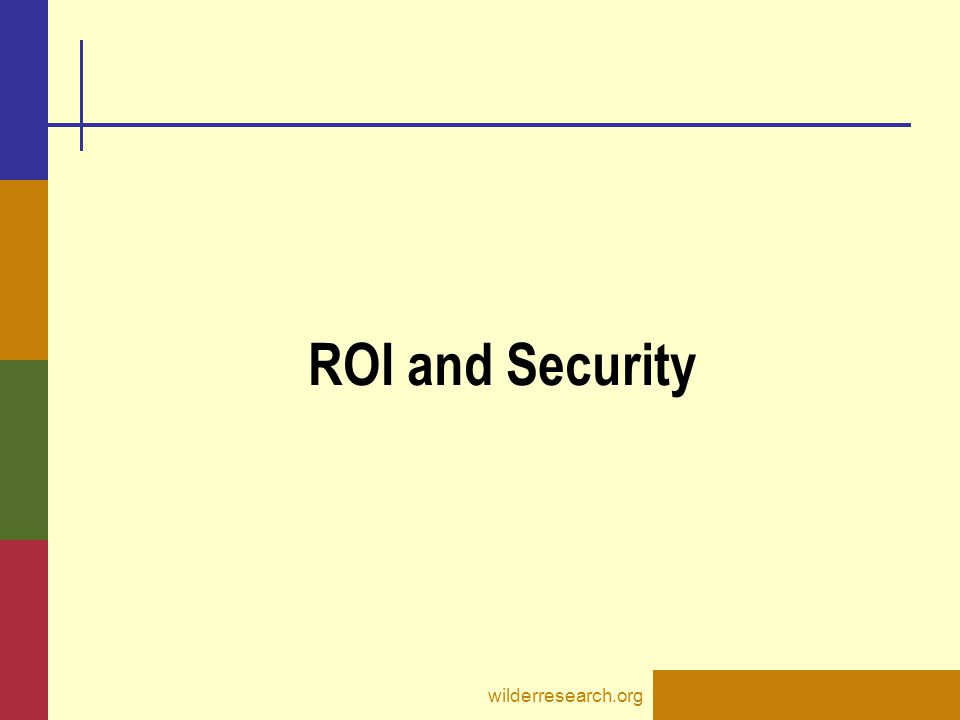 ROI and Security wilderresearch.org