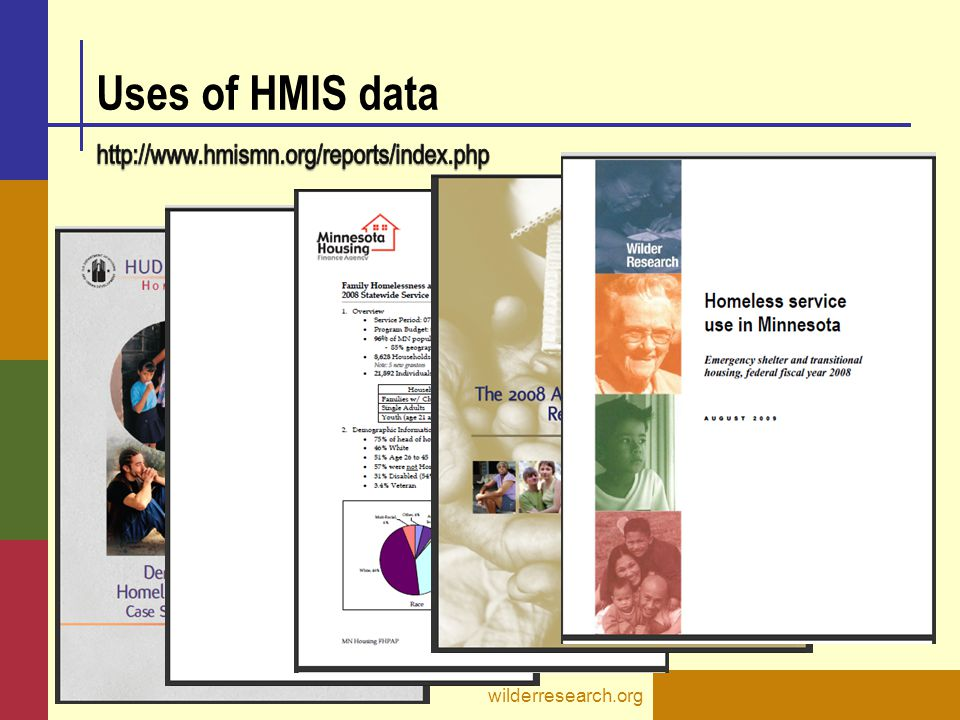 Uses of HMIS data http://www.hmismn.org/reports/index.php