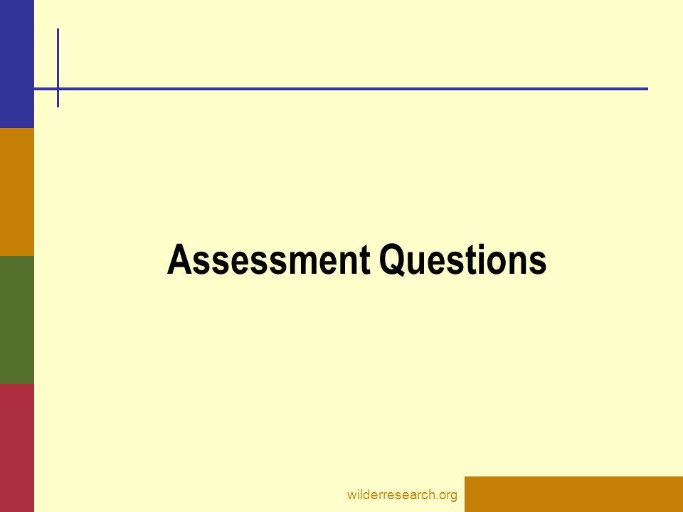 Assessment Questions wilderresearch.org