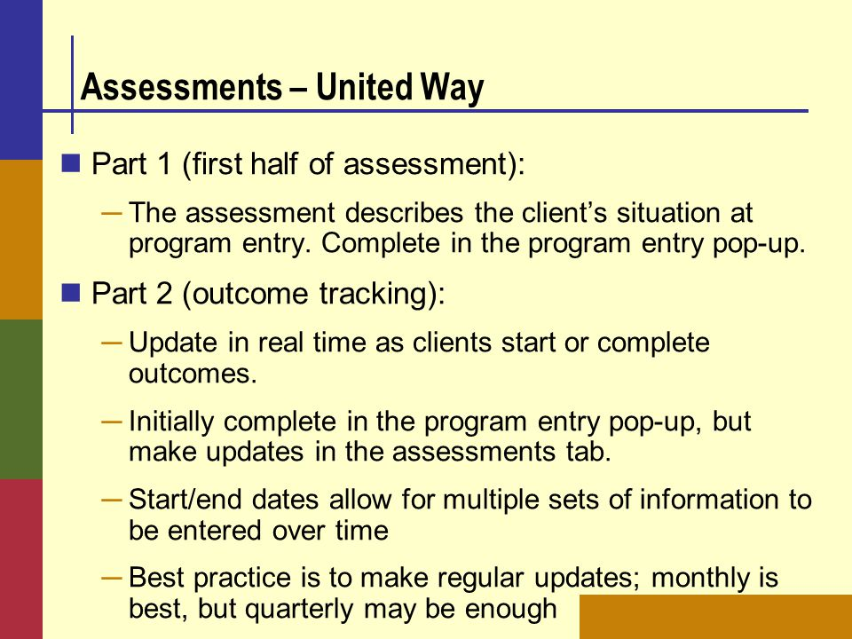 Assessments – United Way