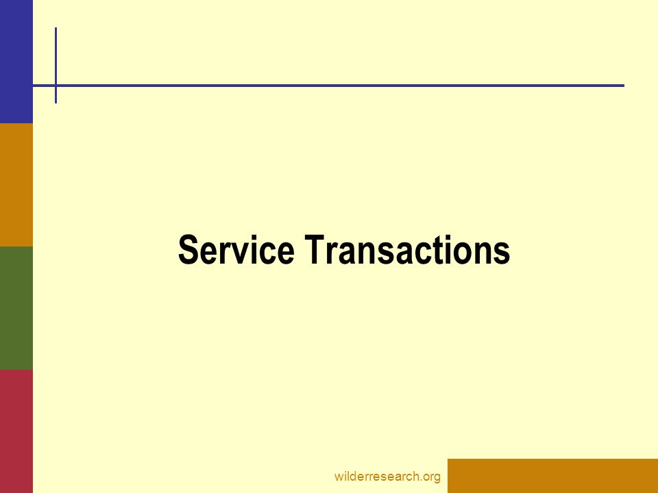 Service Transactions wilderresearch.org