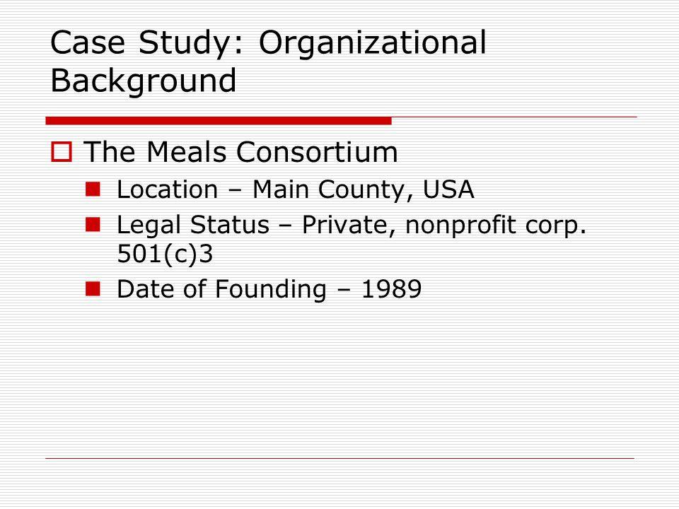 Case Study: Organizational Background