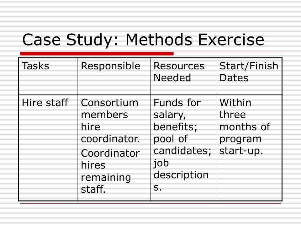 Case Study: Methods Exercise