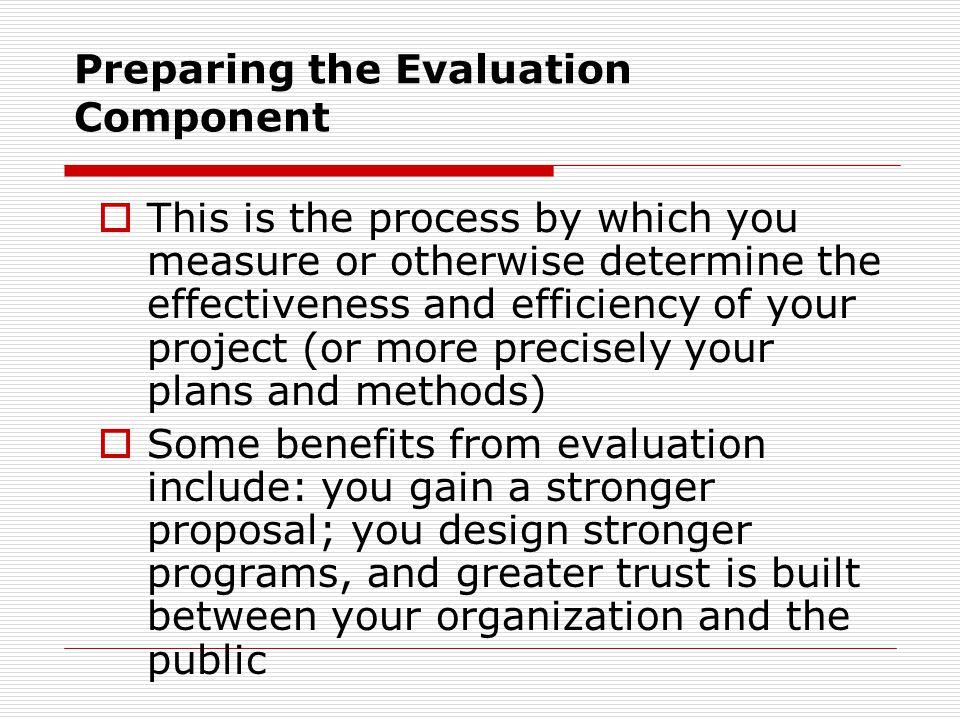 Preparing the Evaluation Component