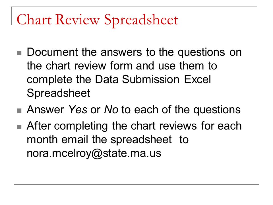 Chart Review Spreadsheet