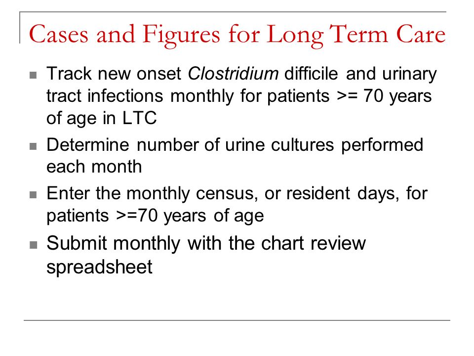 Cases and Figures for Long Term Care
