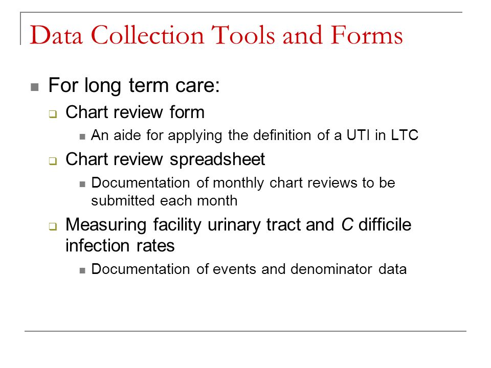 Data Collection Tools and Forms