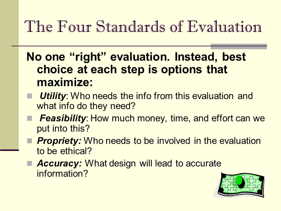 The Four Standards of Evaluation