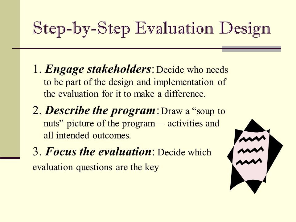 Step-by-Step Evaluation Design