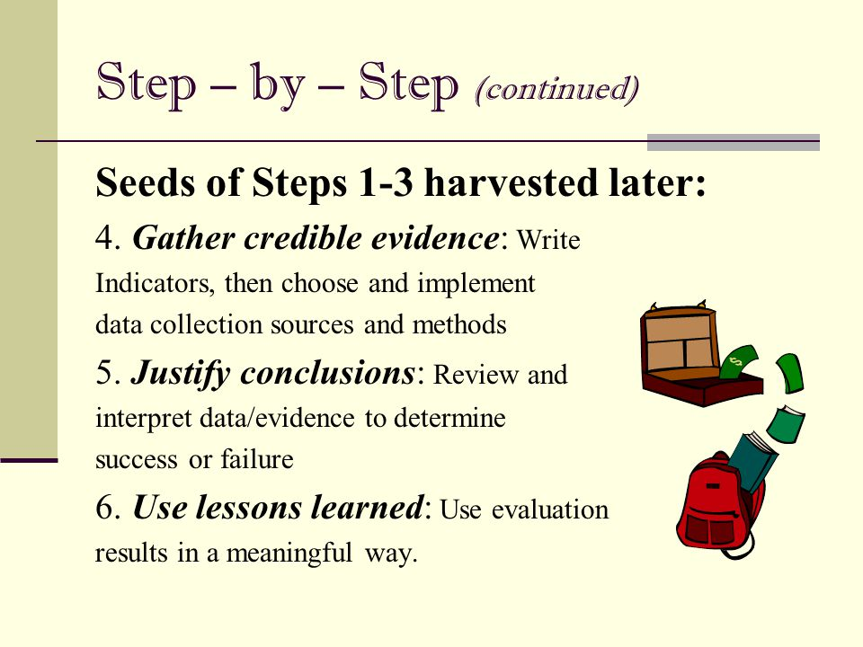 Step – by – Step (continued)