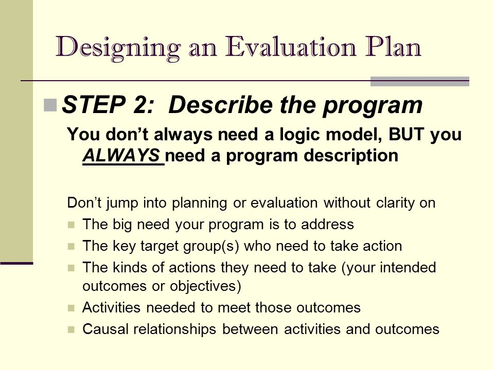 designing an effective evaluation strategy ppt video online download