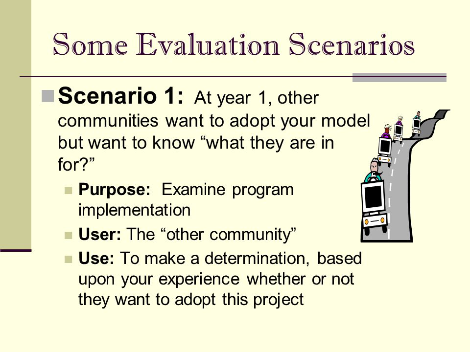 scenario evaluation plan Scenario planning rather than focusing on a single future for the region, we use scenario planning to explore a range of possible futures for each project, the team develops a the tool allows real-time evaluation of each scenario's impact on land use, housing, sustainability, transportation, and economic conditions.