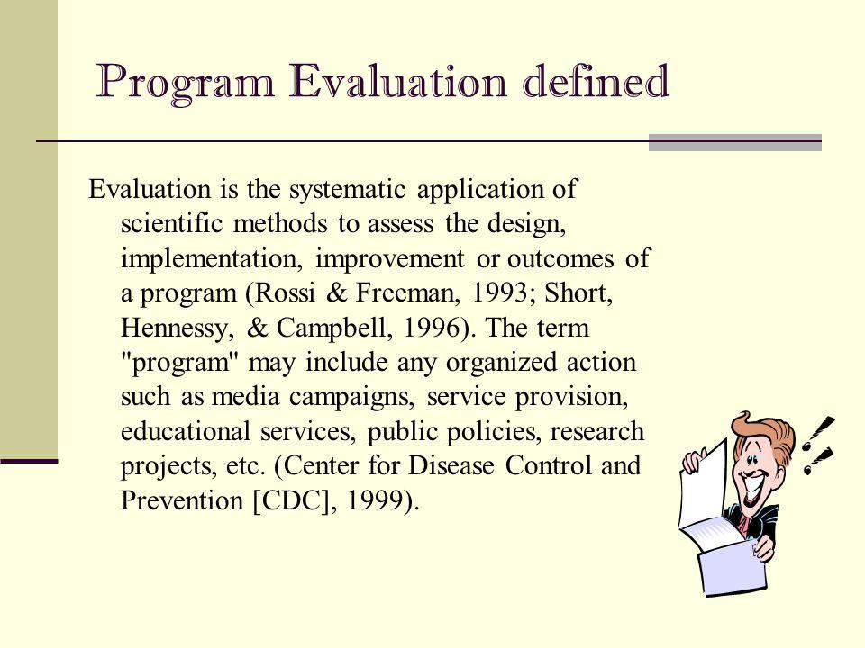 Program Evaluation defined