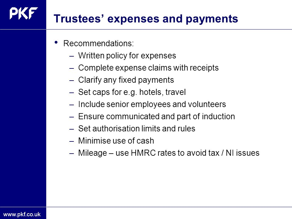 Trustees' expenses and payments