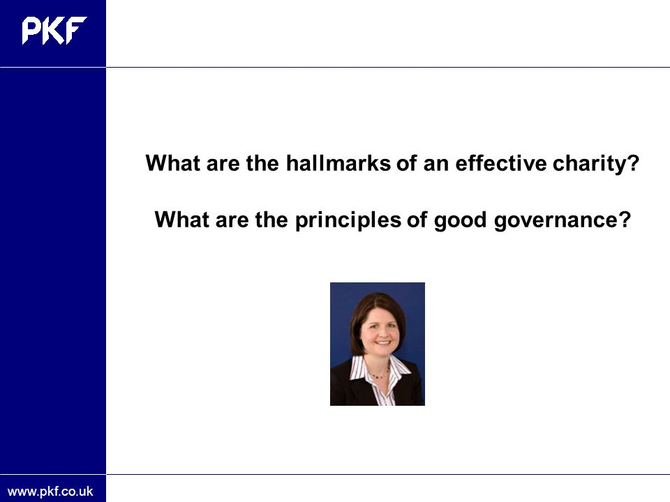 What are the hallmarks of an effective charity