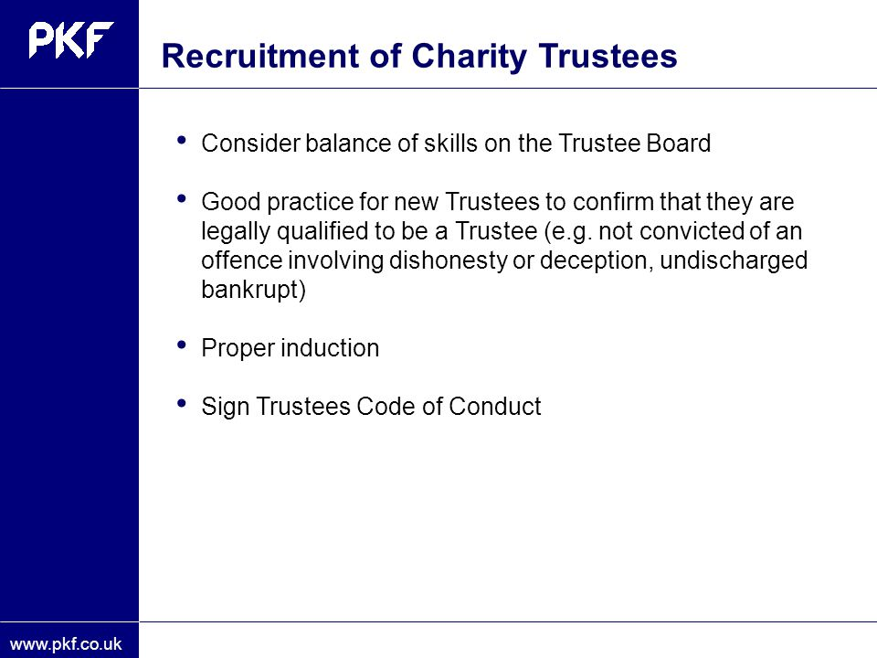 Recruitment of Charity Trustees
