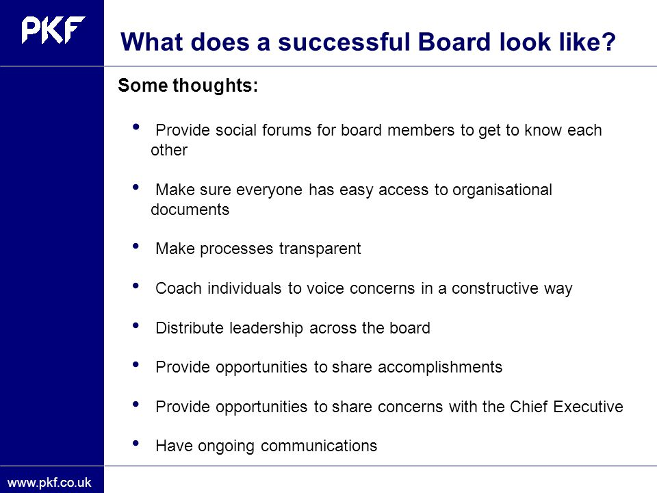 What does a successful Board look like