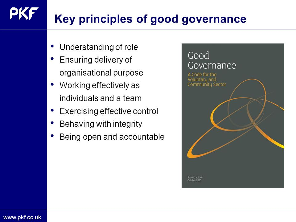 Key principles of good governance