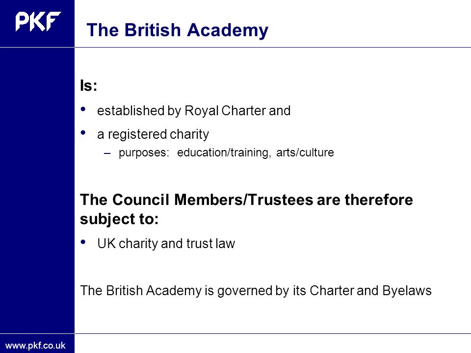 The British Academy Is: