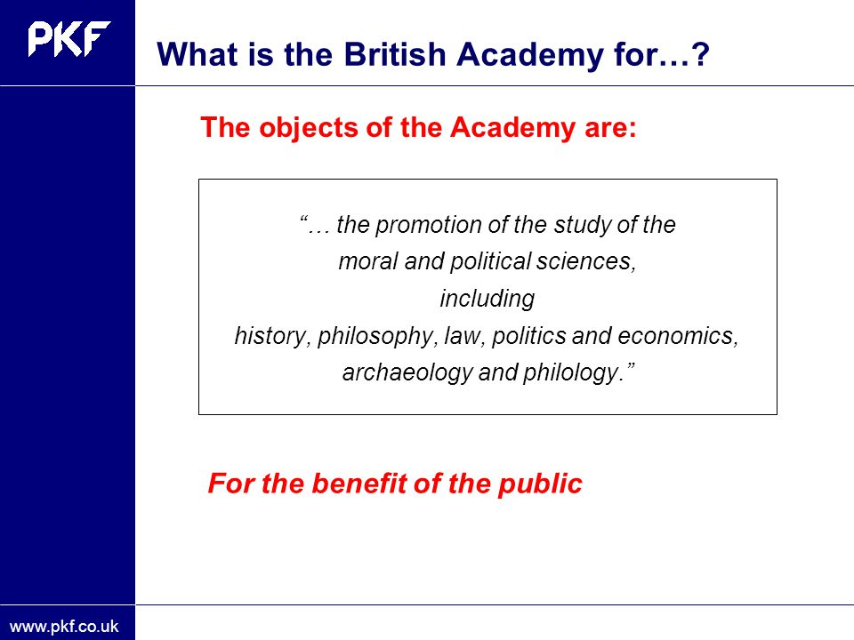 What is the British Academy for…