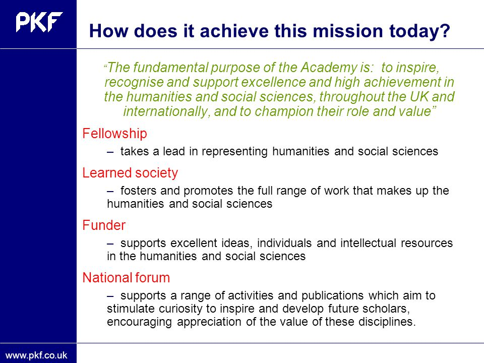 How does it achieve this mission today