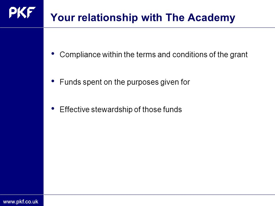 Your relationship with The Academy