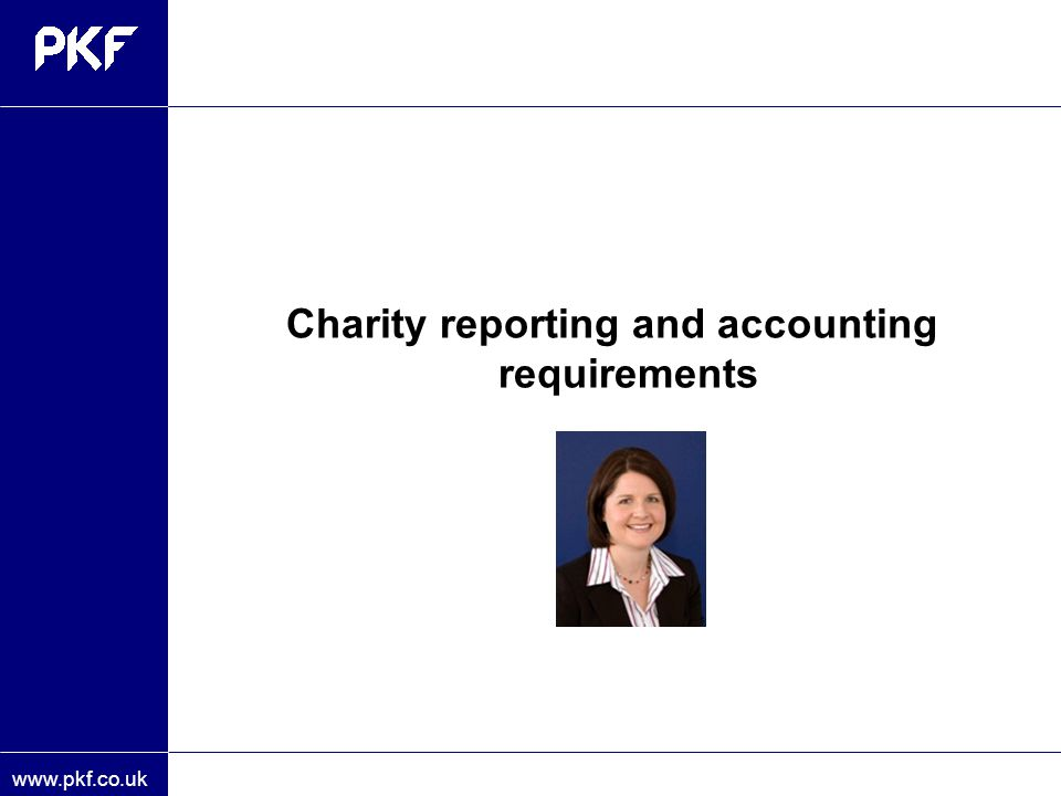 Charity reporting and accounting requirements