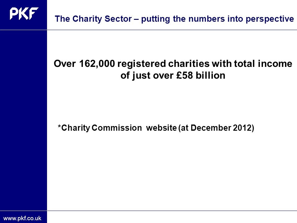 The Charity Sector – putting the numbers into perspective