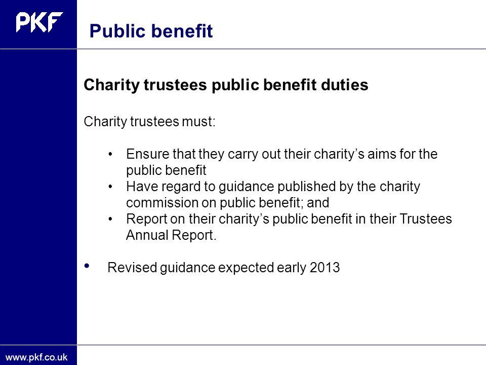 Public benefit Public benefit guidance