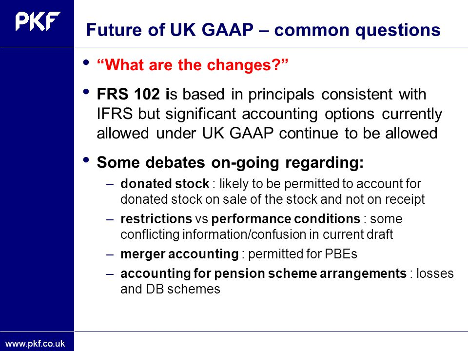 Future of UK GAAP – common questions