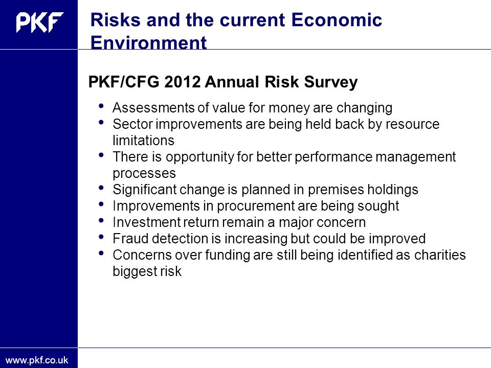 Risks and the current Economic Environment