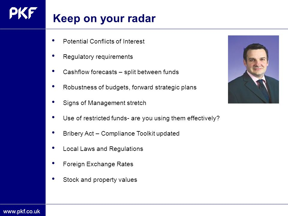 Keep on your radar Potential Conflicts of Interest