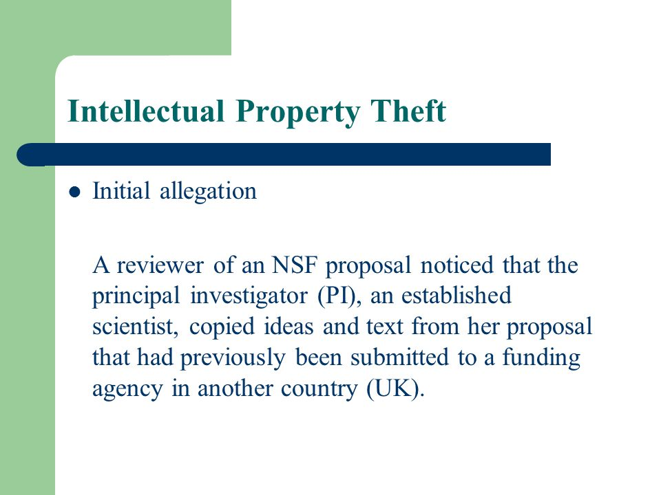 Intellectual Property Theft