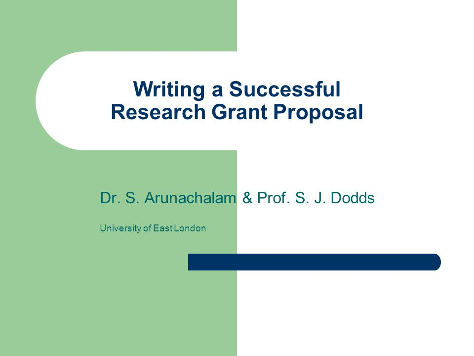 Writing A Successful Research Grant Proposal Ppt Download
