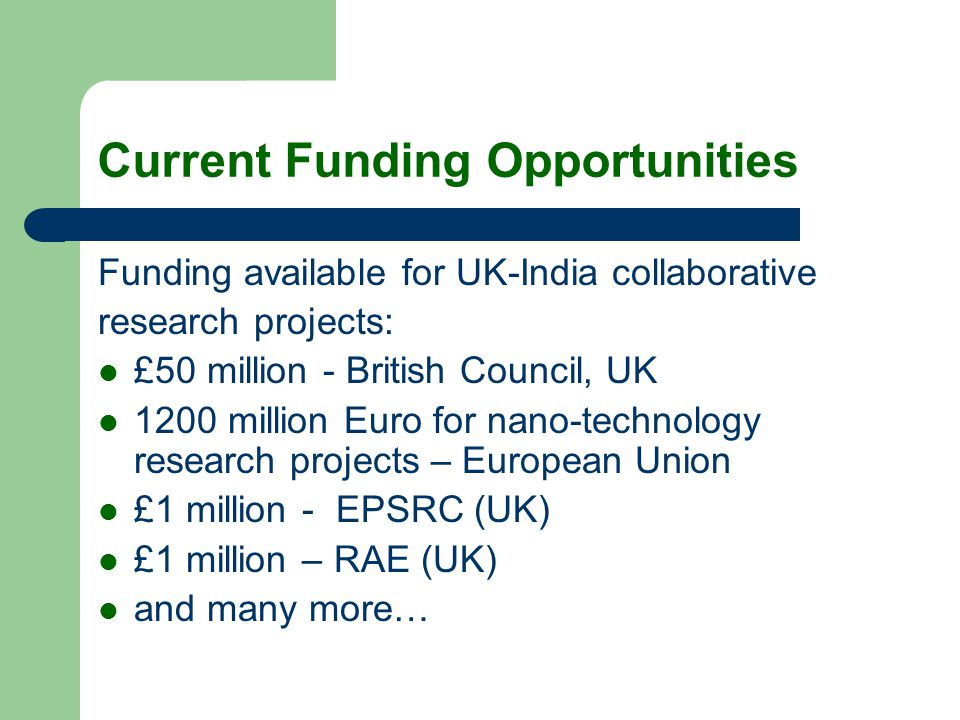 Current Funding Opportunities