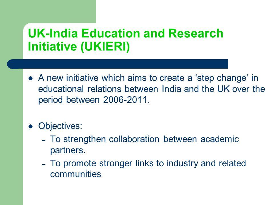 UK-India Education and Research Initiative (UKIERI)