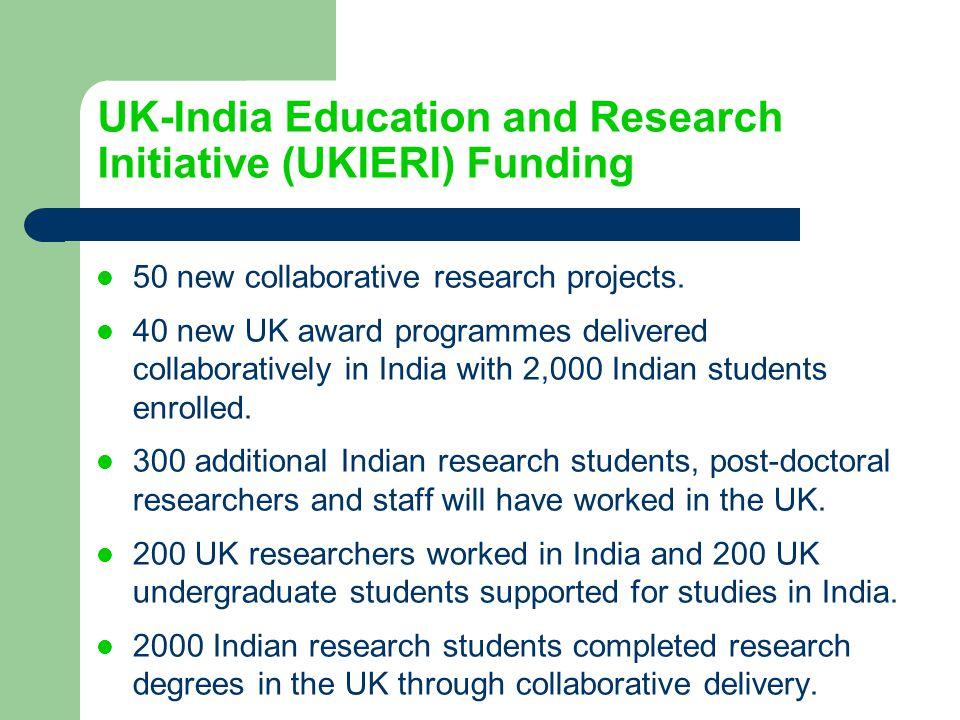 UK-India Education and Research Initiative (UKIERI) Funding
