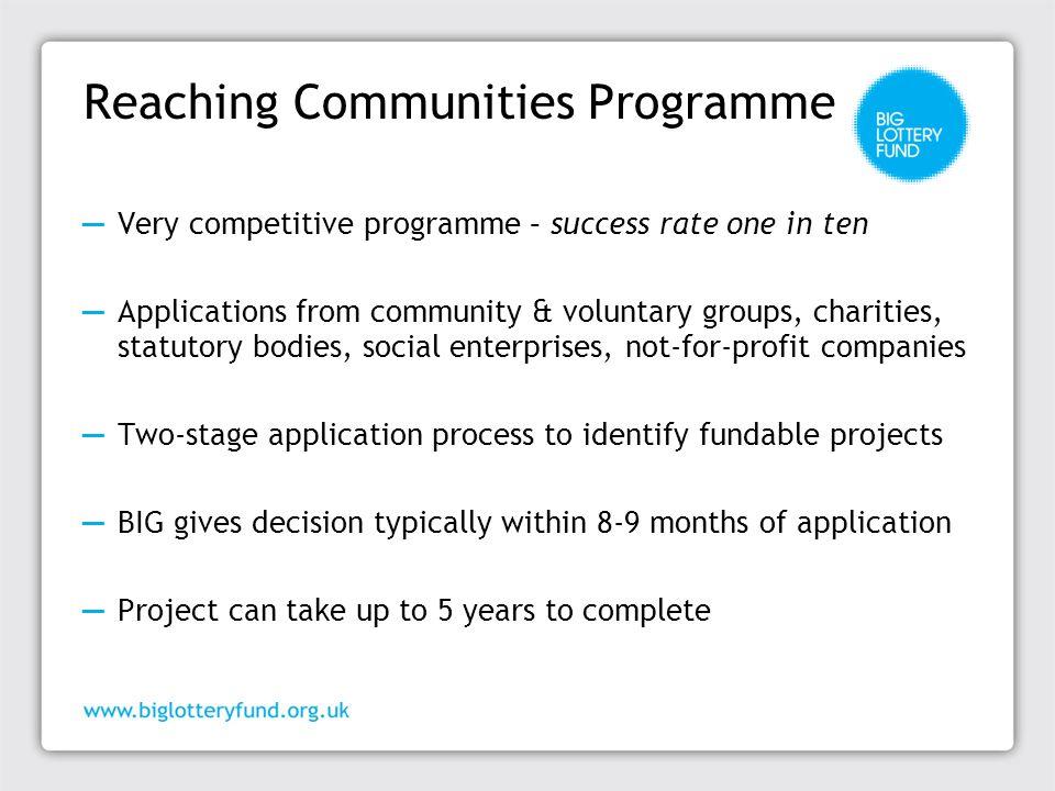 Reaching Communities Programme