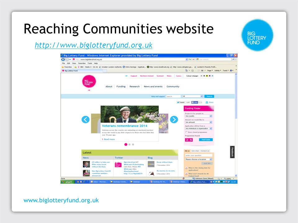 Reaching Communities website http://www.biglotteryfund.org.uk