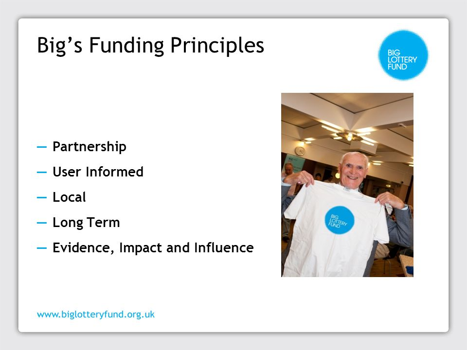 Big's Funding Principles