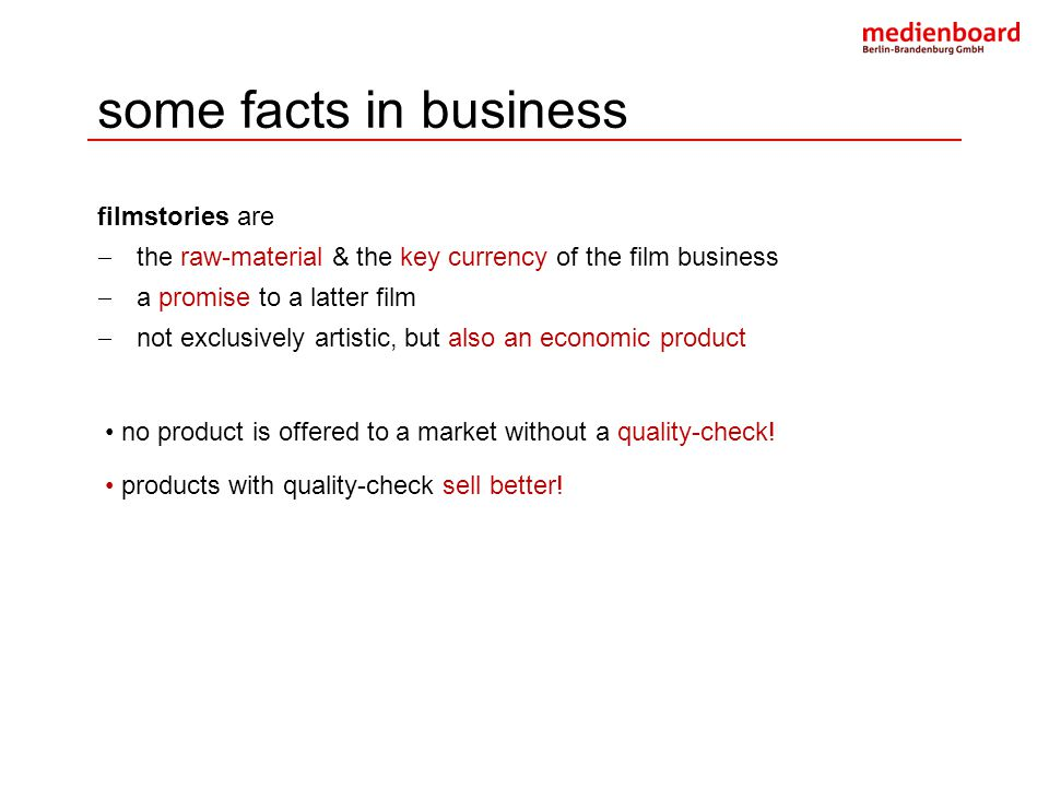 some facts in business filmstories are