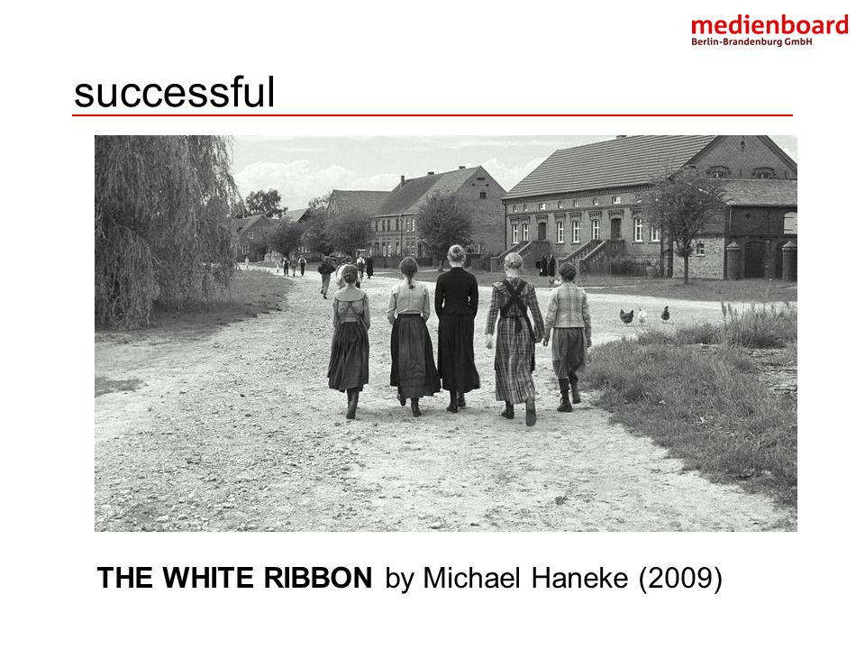 successful THE WHITE RIBBON by Michael Haneke (2009)