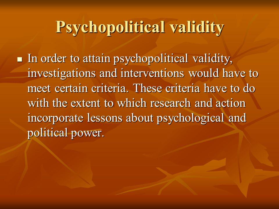Psychopolitical validity