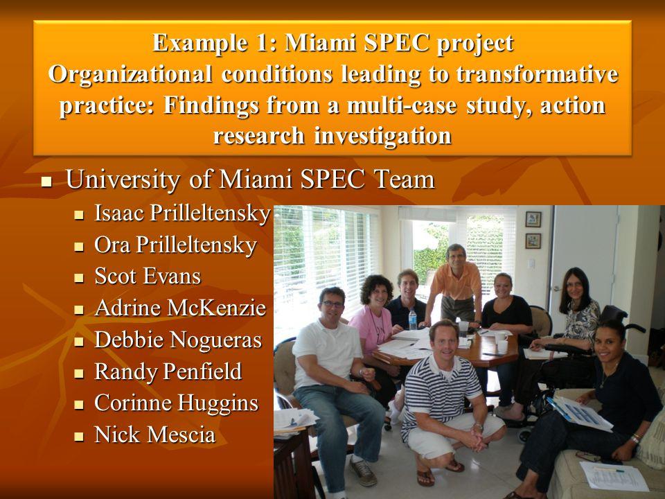 University of Miami SPEC Team
