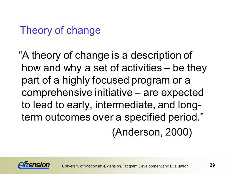 University of Wisconsin-Extension, Program Development and Evaluation