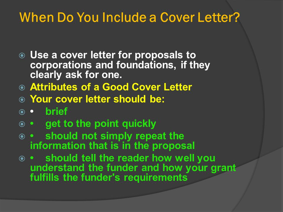 When Do You Include a Cover Letter