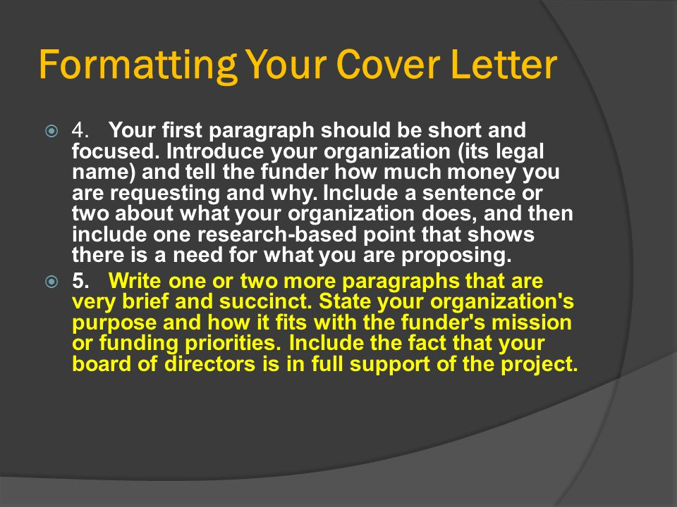 Formatting Your Cover Letter