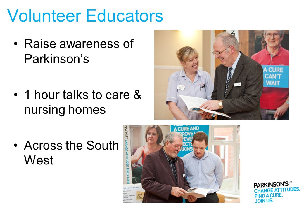Volunteer Educators Raise awareness of Parkinson's